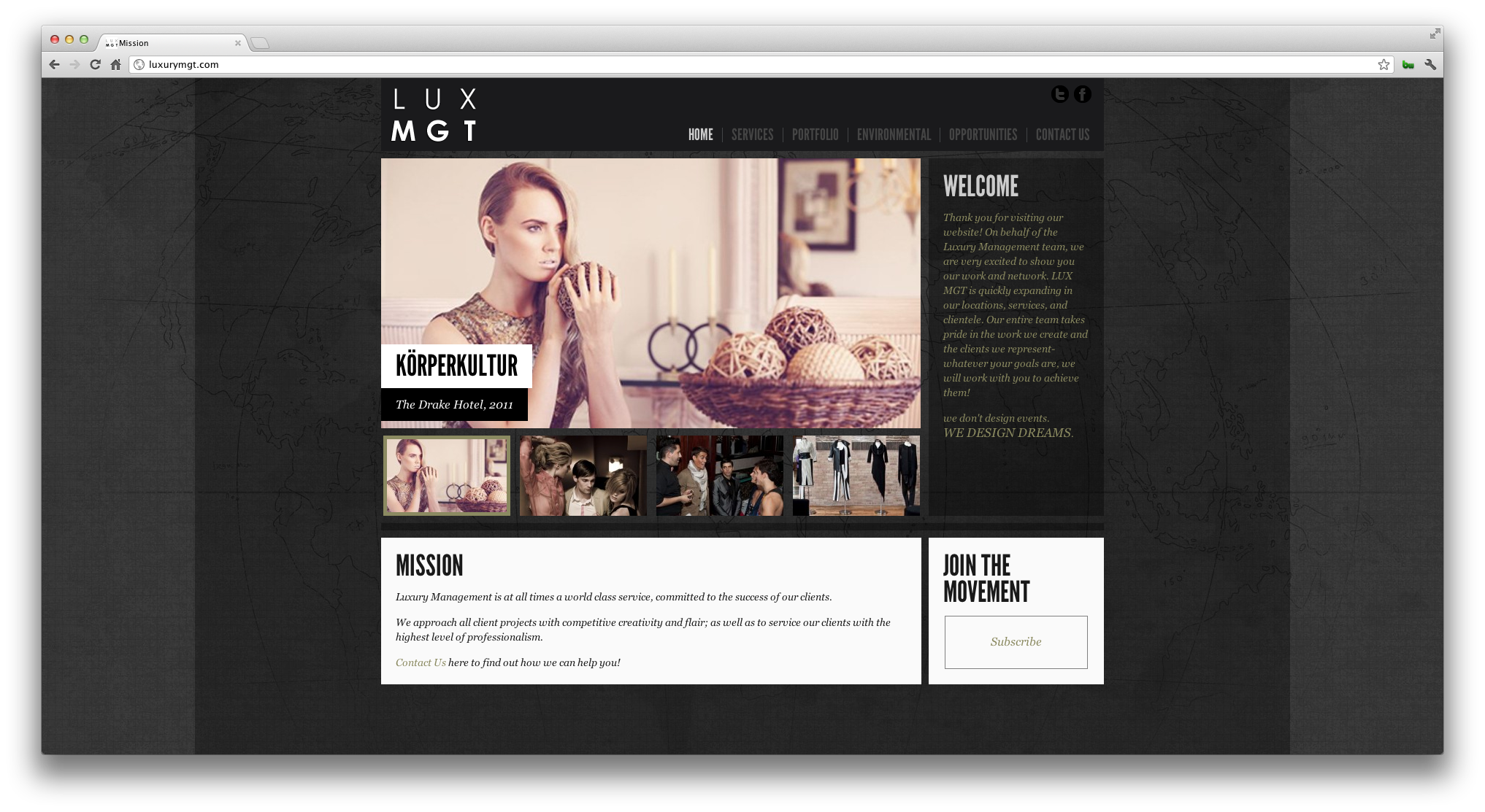 LUX MGT Website