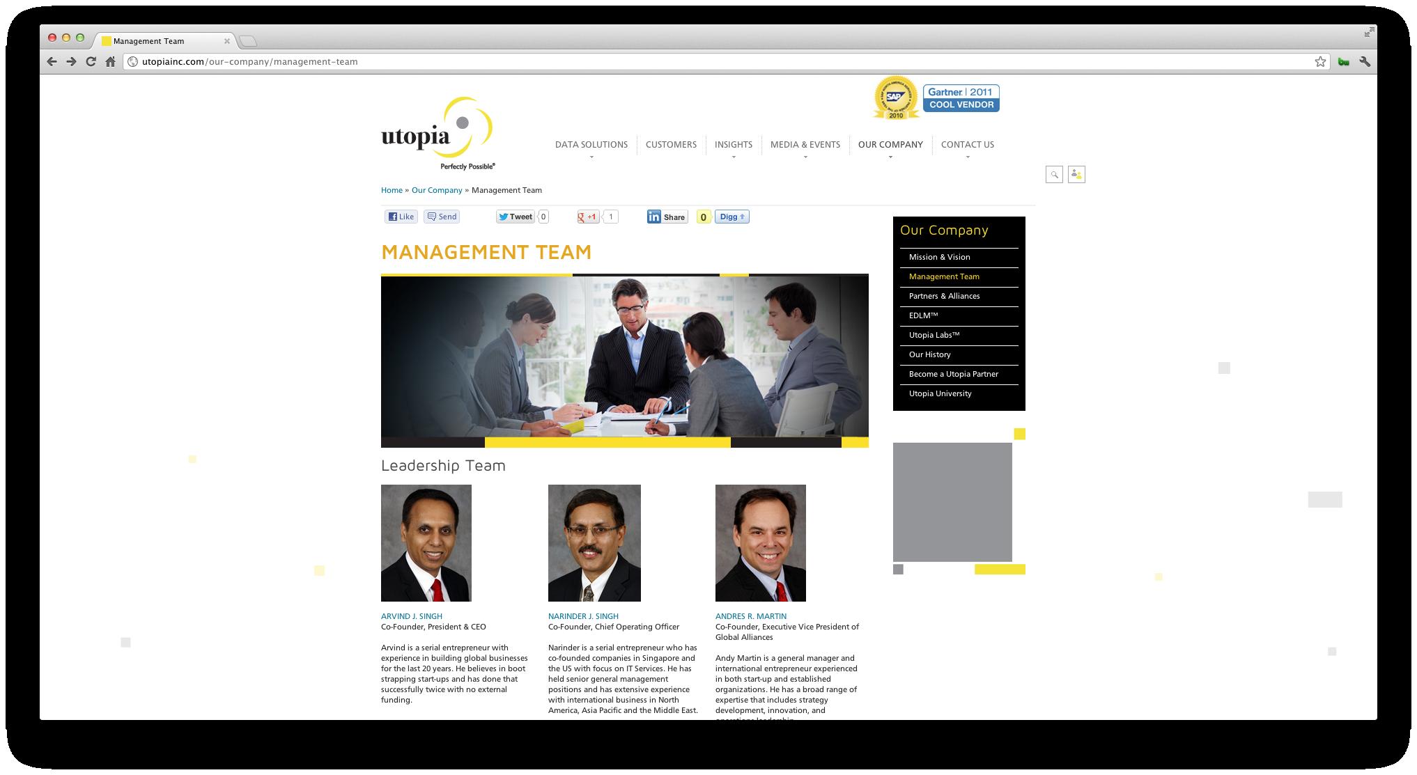 Utopia Inc Website