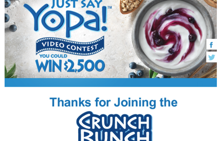 Yopa Greek Yogurt – Promotions & Packaging