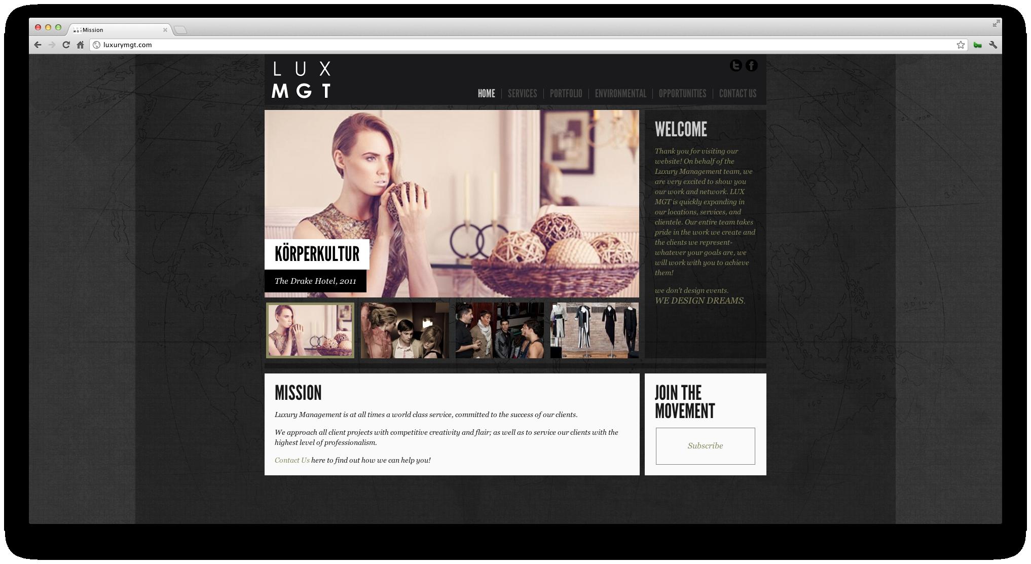 LUX MGT Website